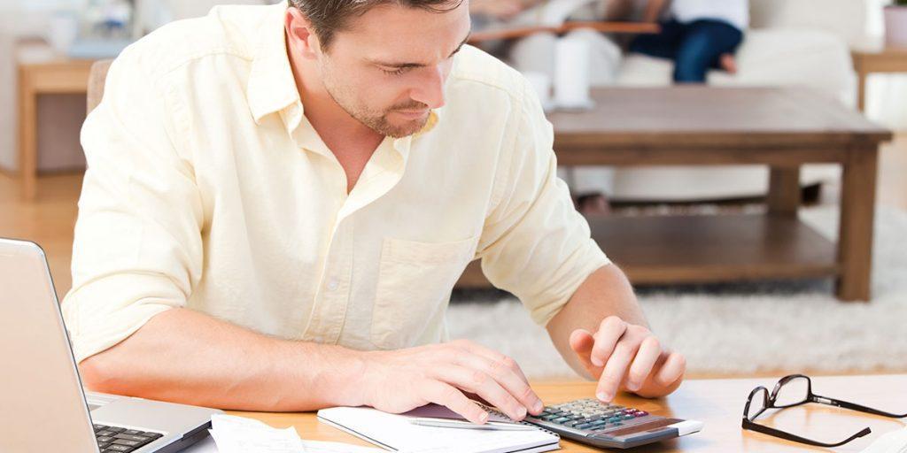 Man Managing Debt